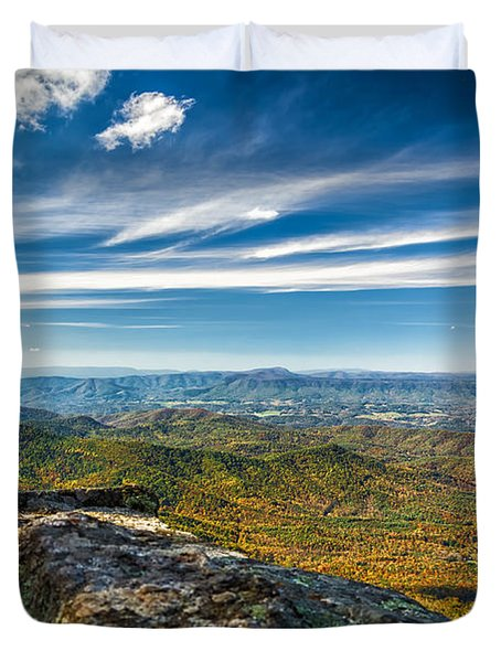 Autumn Colors In The Blue Ridge Mountains Duvet Cover
