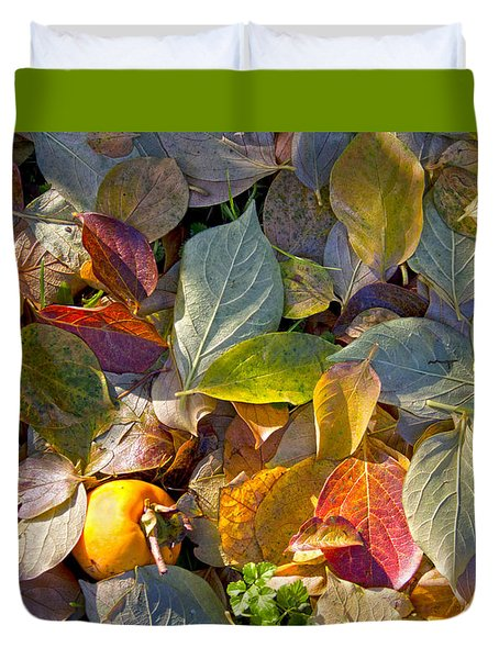 Duvet Cover featuring the photograph Autumn Colors by Raffaella Lunelli