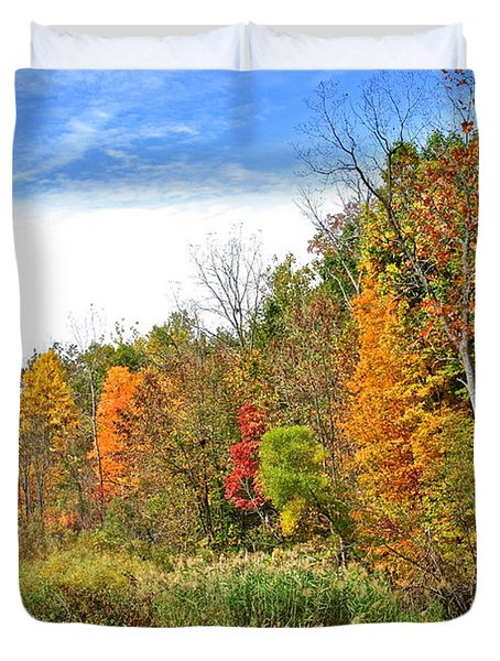 Autumn Colors Duvet Cover by Frozen in Time Fine Art Photography