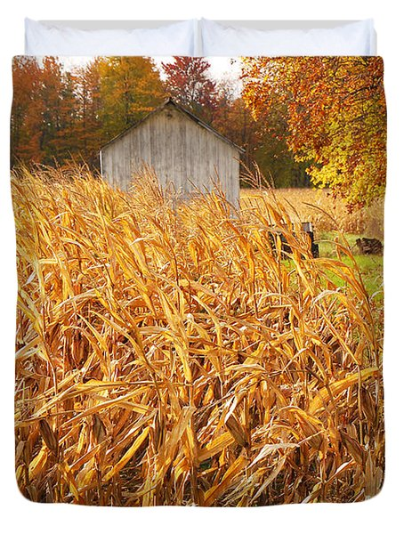Autumn Corn Duvet Cover by Mary Carol Story