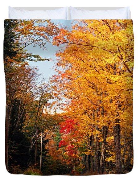 Autumn Country Road Duvet Cover by Joann Vitali