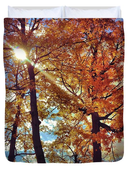 Autumn Days Duvet Cover