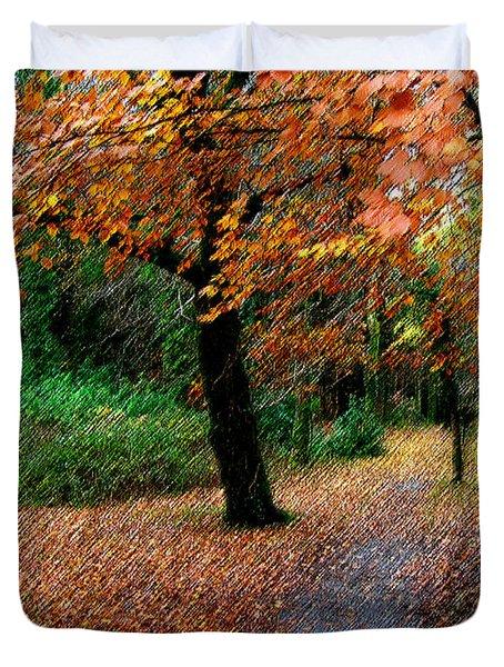Autumn Entrance To Muckross House Killarney Duvet Cover