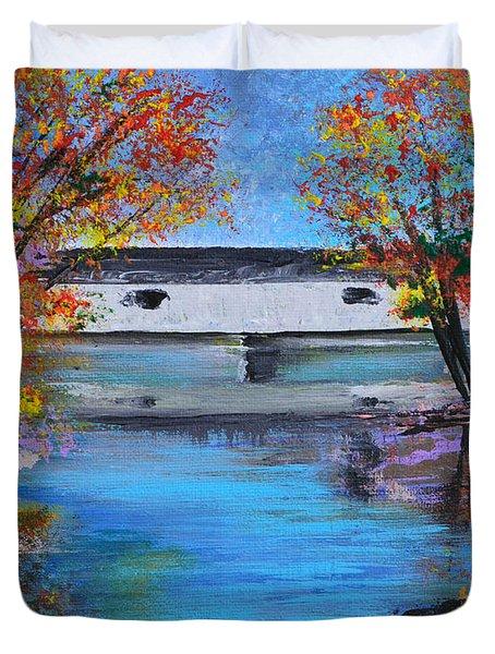 Autumn Evening Duvet Cover by Alys Caviness-Gober