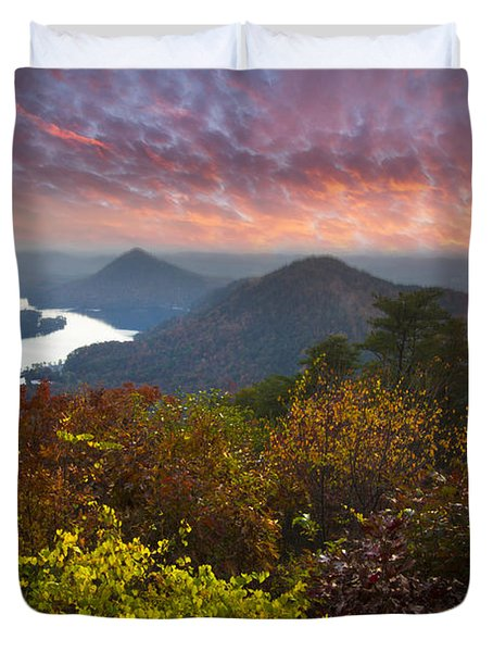 Autumn Evening Star Duvet Cover by Debra and Dave Vanderlaan