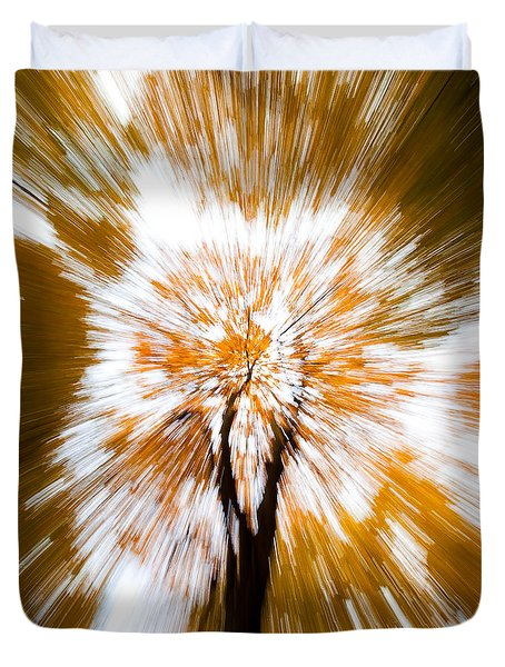 Autumn Explosion Duvet Cover by Dave Bowman