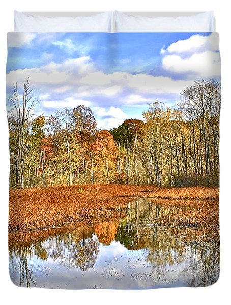 Autumn Fades Duvet Cover by Frozen in Time Fine Art Photography
