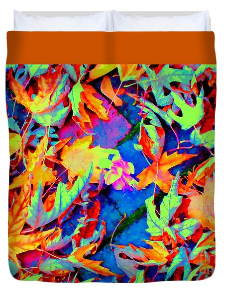 Autumn Fiesta Duvet Cover by Ann Johndro-Collins