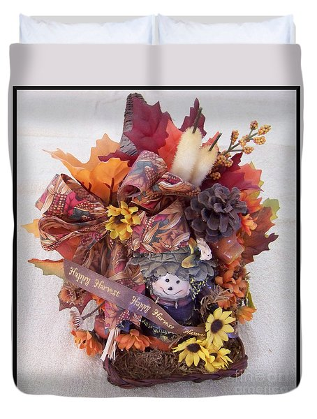 Autumn Flower Basket Duvet Cover