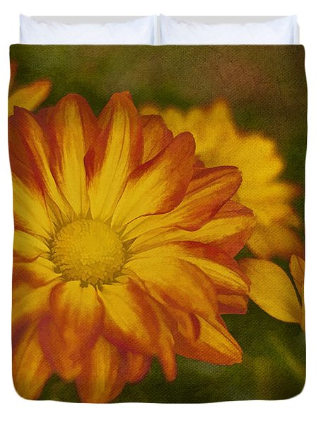Autumn Flowers Duvet Cover by Ivelina G