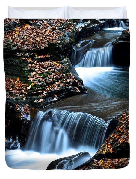 Autumn Flows Forth Duvet Cover by Frozen in Time Fine Art Photography