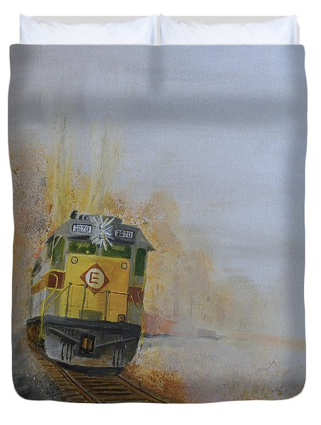 Autumn Fog Duvet Cover by Christopher Jenkins