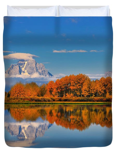 Autumn Foliage At The Oxbow Duvet Cover