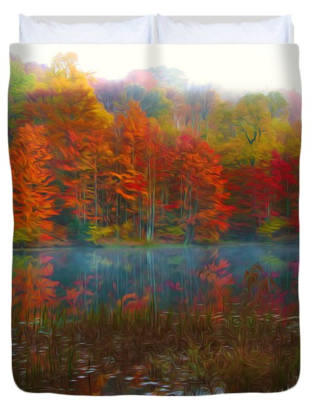 Autumn Foliage Duvet Cover by Lanjee Chee