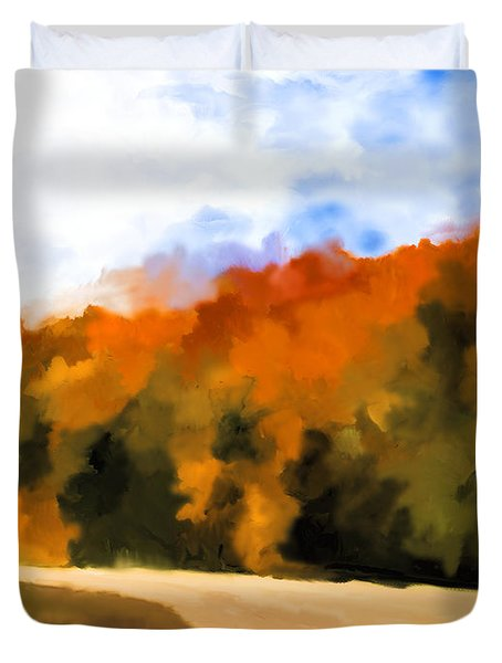 Autumn Fringe Duvet Cover by Jo-Anne Gazo-McKim