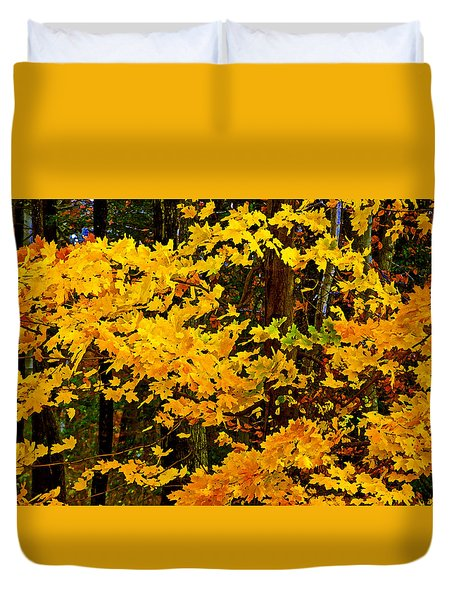 Autumn Glory Dry Brush Duvet Cover