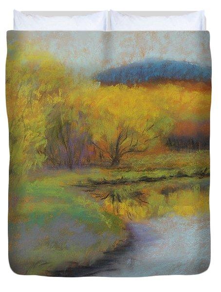 Autumn Glow At Catfish Corner Duvet Cover by Sherri Anderson