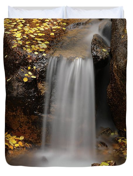 Autumn Gold And Waterfall Duvet Cover