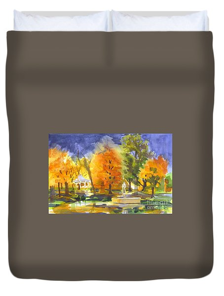 Autumn Gold Duvet Cover by Kip DeVore