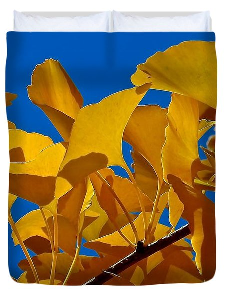 Autumn Golden Ginkgo  Duvet Cover