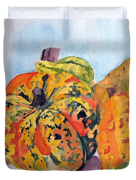 Autumn Gourds Duvet Cover