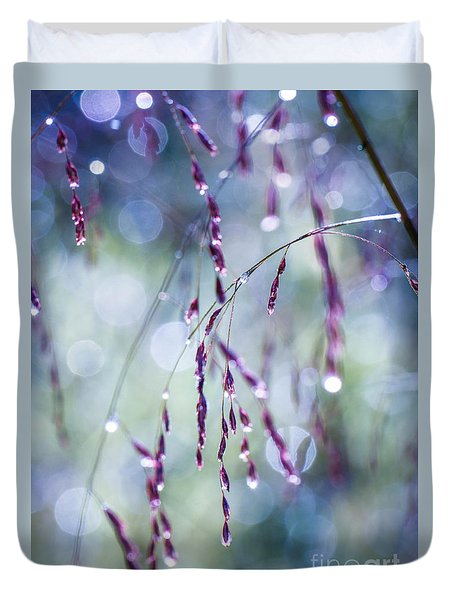 Autumn Grasses Duvet Cover by Amy Porter