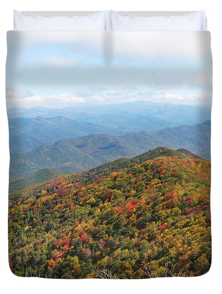 Autumn Great Smoky Mountains Duvet Cover by Melinda Fawver