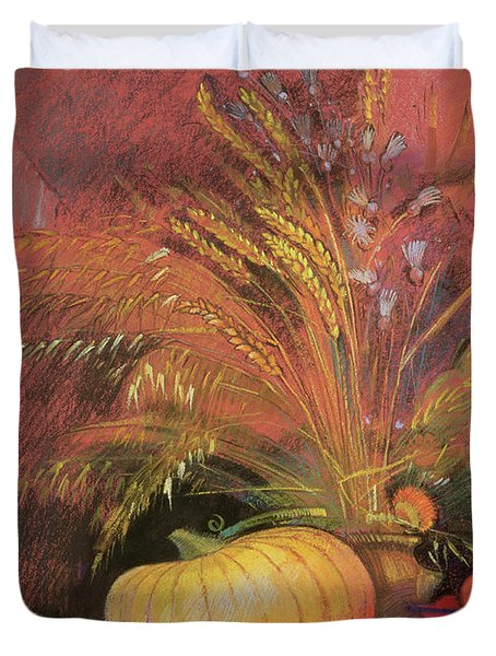 Autumn Harvest Duvet Cover by Claire Spencer
