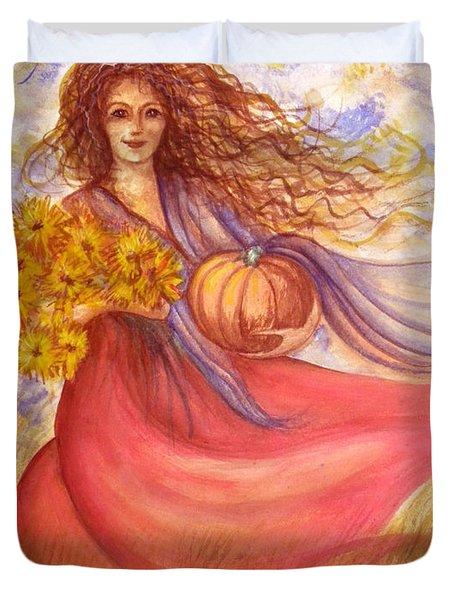 Autumn Harvest Duvet Cover by Sheri Lauren Schmidt
