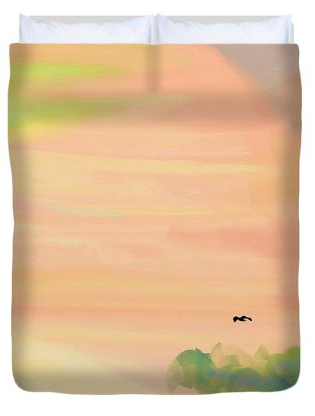 Autumn Hills Duvet Cover by Lenore Senior
