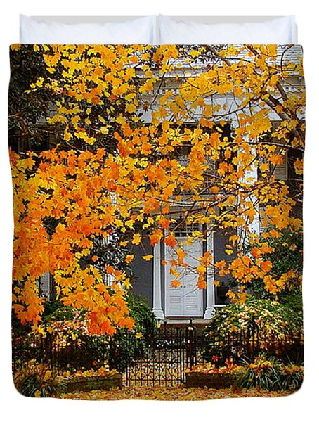 Autumn Homecoming Duvet Cover