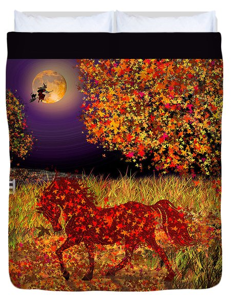 Autumn Horse Bewitched Duvet Cover