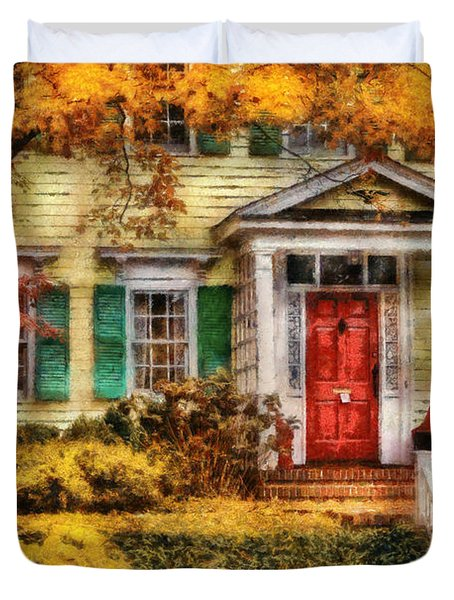 Autumn - House - Local Suburbia Duvet Cover by Mike Savad