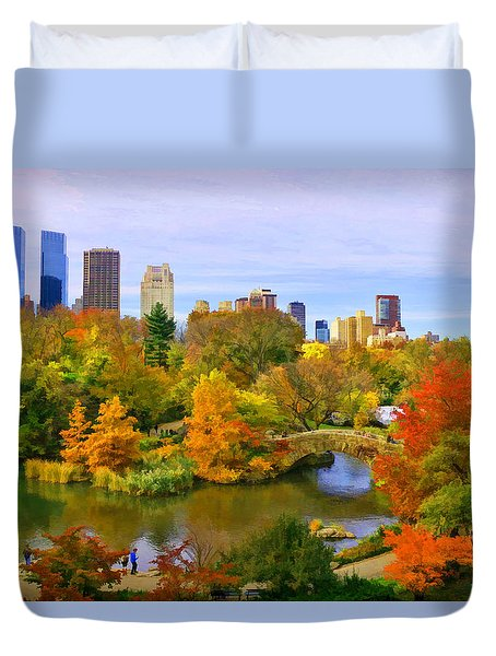 Autumn In Central Park 4 Duvet Cover