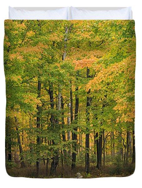 Autumn In Door County Duvet Cover by Adam Romanowicz