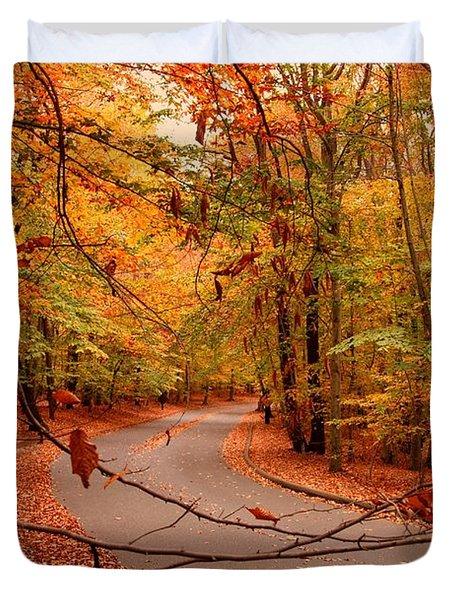 Autumn In Holmdel Park Duvet Cover