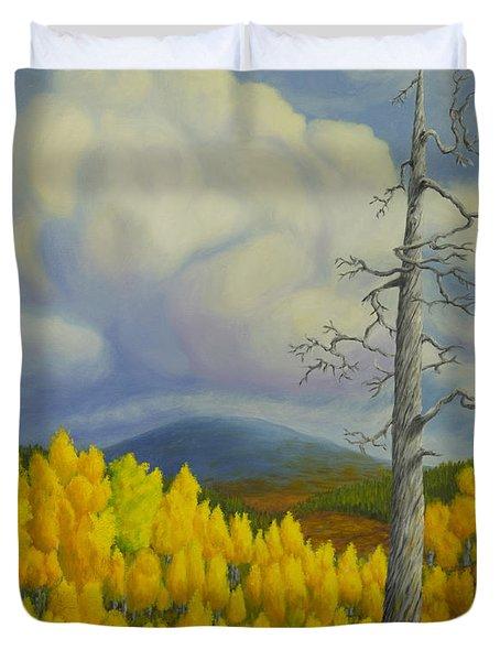 Autumn In Lapland Duvet Cover