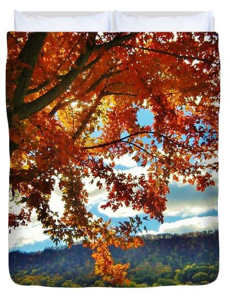 Autumn In Minnesota Duvet Cover