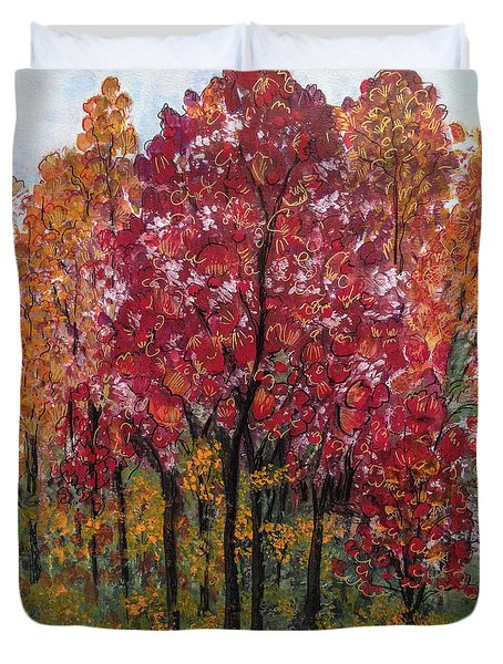 Autumn In Nashville Duvet Cover