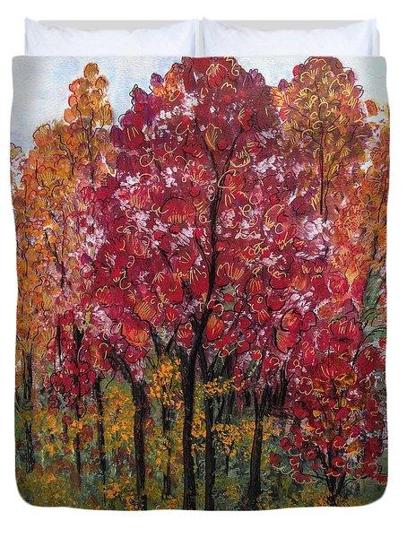 Autumn In Nashville Duvet Cover by Holly Carmichael