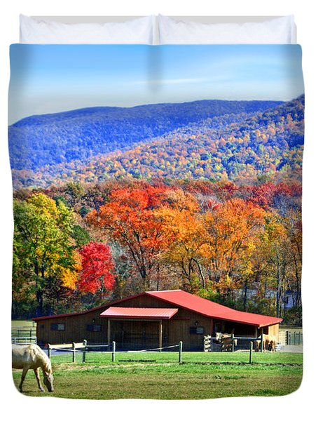 Autumn In Rural Virginia  Duvet Cover