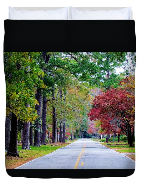 Autumn In The Air Duvet Cover by Cynthia Guinn