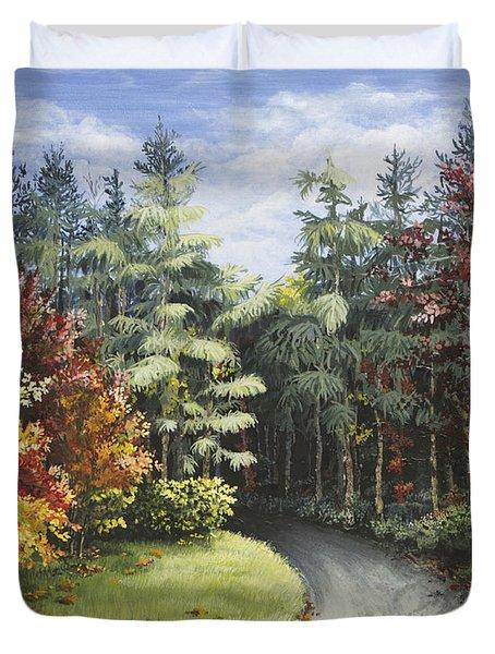 Autumn In The Arboretum Duvet Cover