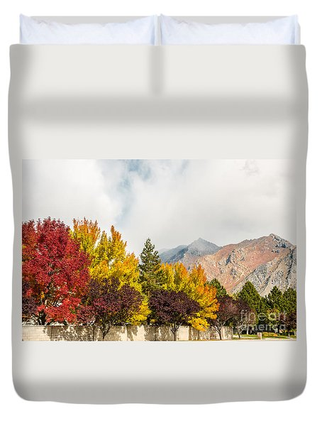 Autumn In The City Duvet Cover by Sue Smith