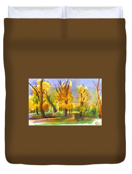 Autumn In The Forest Duvet Cover by Kip DeVore