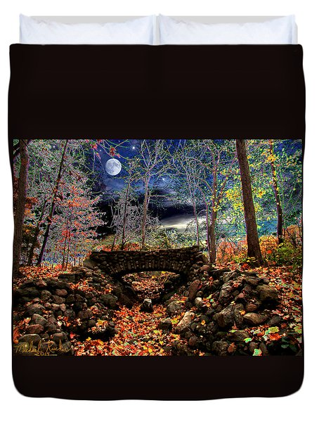 Autumn In The Meadow Duvet Cover by Michael Rucker