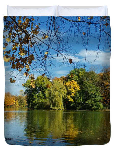 Autumn In The Park 2 Duvet Cover by Rudi Prott