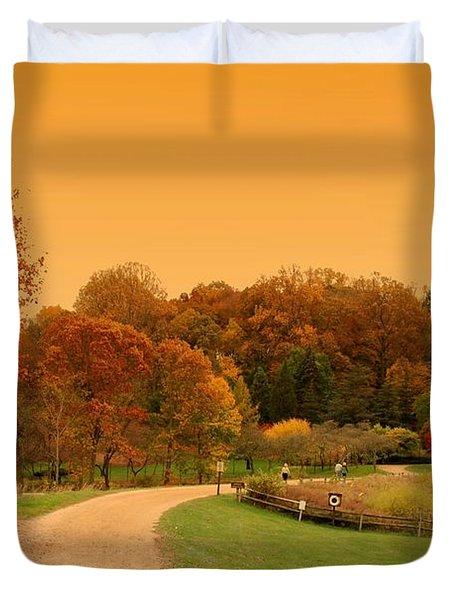 Autumn In The Park - Holmdel Park Duvet Cover