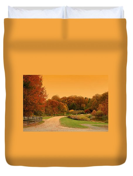 Autumn In The Park - Holmdel Park Duvet Cover