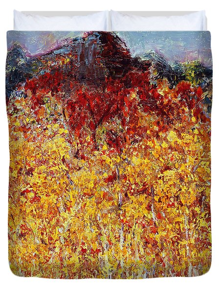 Autumn In The Pioneer Valley Duvet Cover by Regina Valluzzi